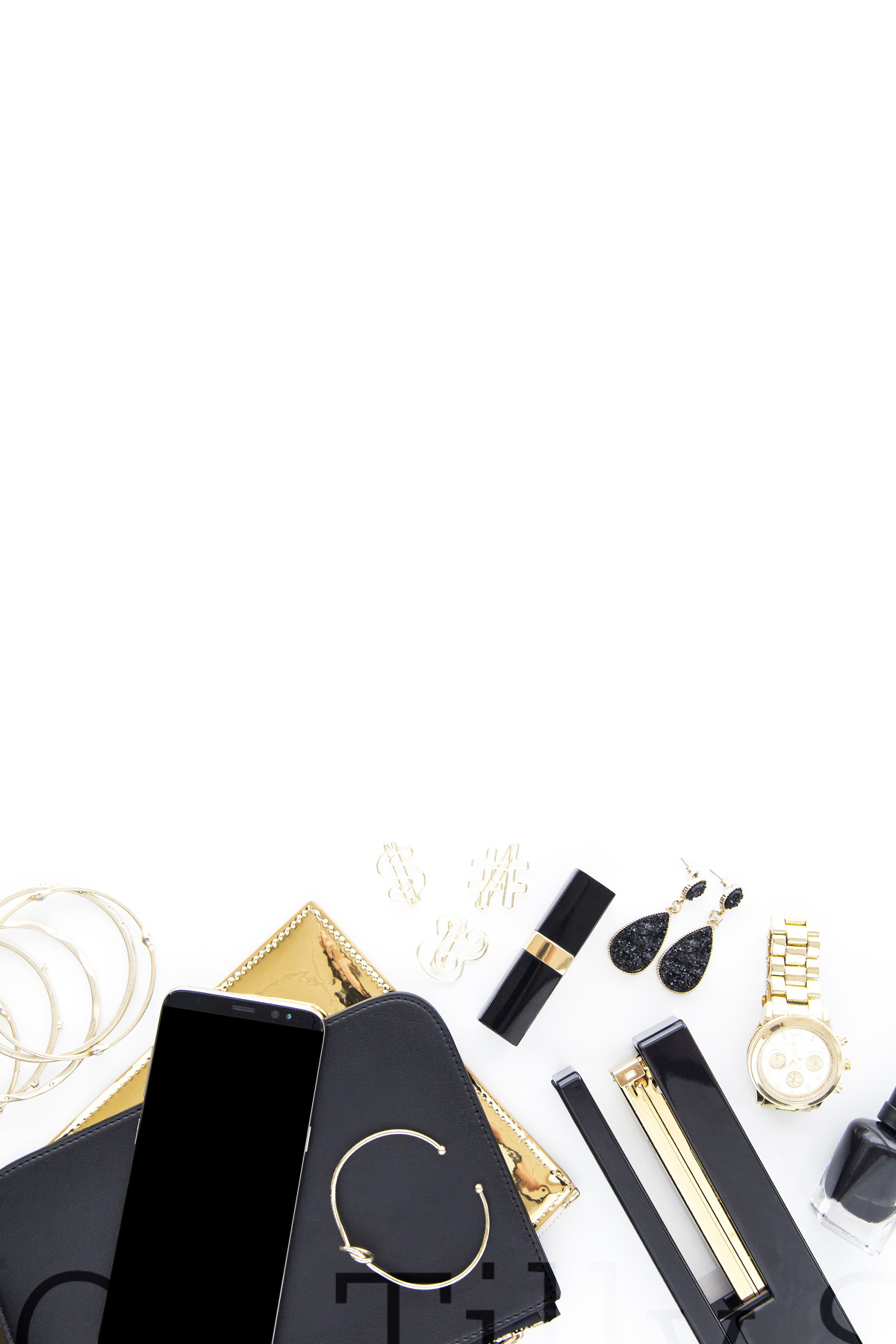 Oh Tilly Black and Gold Luxe 031
